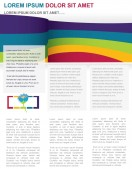 Blank Templates-Colourful Blank Newsletter