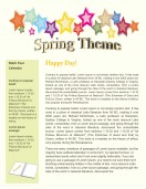 Office Templates-Spring newsletter template