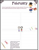 School Templates-February Newsletters for Kids