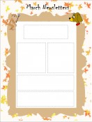 School Templates-Classroom Newsletter Template for March