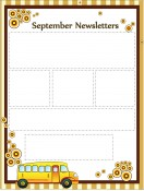 Special Templates-September Newsletter -School Bus Theme
