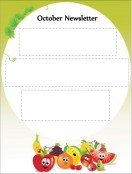 Special Templates-October Newsletter - Fruits and Vegetables Theme