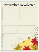 Special Templates-November Newsletter