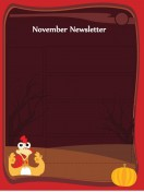 Special Templates-November Newsletter - Thanksgiving Template - Dark Theme