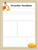 Special Templates-Thanksgiving Newsletter Template