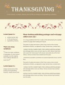 Special Templates-Thanksgiving Newsletters for any occasion
