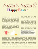 Special Templates-Easter Holidays Newsletter Template