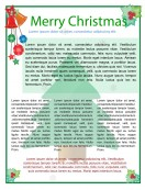 Special Templates-Merry Christmas Newsletter Template
