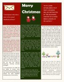 Special Templates-Christmas themed newsletters for friends and families