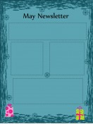 Special Templates-May Newsletter Template - Dark Theme