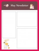 Special Templates-May Newsletter Template - Nursery