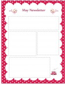 Special Templates-May Newsletter Template - Pink Theme