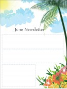 Special Templates-June Newsletter Template - Summer Theme