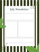 Special Templates-July Newsletters