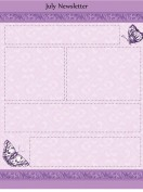 Special Templates-July Newsletters - Butterfly Theme