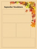 Special Templates-September Newsletter -Autumn Leaf Theme